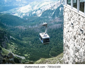 Cable car from Zakopane to mount Kasprowy Wierch, view of the upper station of the cableway to mount Kasprowy Wierch.