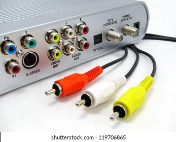 Cable and DVR box with RCA cables