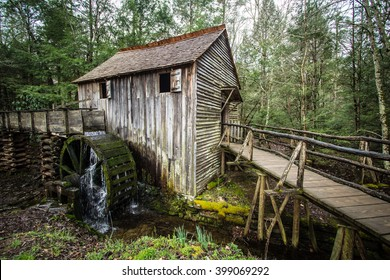 Cable Grist Mill In Cades Cove. Historical grist mill in the Great Smoky Mountains National Park. Structure located on park lands and open to the public. This is not a private property.