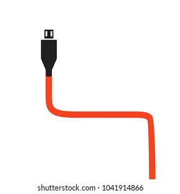 cable icon on a white background
