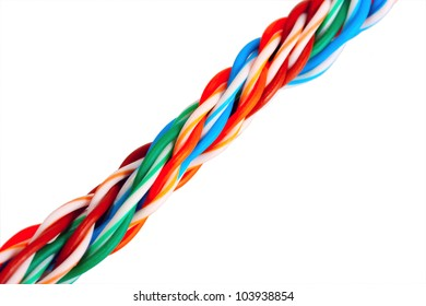 cable internet multicolored isolated on white background