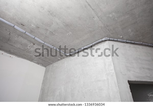 Cable Laying On Ceiling Electrical Wires Stock Photo (Edit ... on