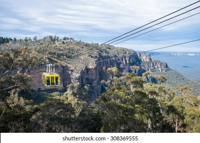 The cable sky way tour at Blue mountains national park, New south wales, Australia.