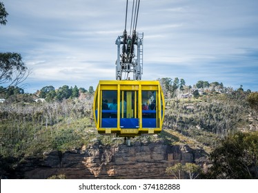 The cable sky way tour at Blue mountains national park, New south wales state of Australia.