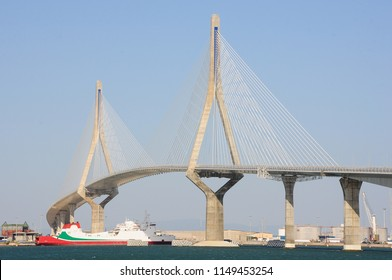 Cable stayed bridge 'Constitution of 1812' or 'La Pepa' in Cádiz, Spain