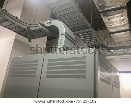 Amazing Cable Tray Support Insulated Electrical Wiring Stock Photo Edit Now Wiring Digital Resources Antuskbiperorg