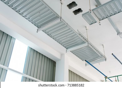 Cable Trays / Ladder for cables installation in an industrial building