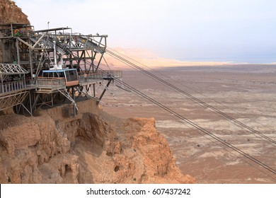 Cable-car to Masada Fortification - Israel