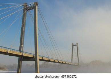 Cable-stayed bridge in Krasnoyarsk
