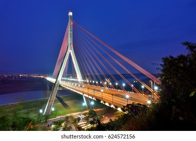 The Cable-Stayed Bridge on Highway #3 in Kaohsiung and Pingtung, Taiwan.