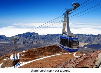 cableway cof volcano Teide,Tenerife,Canary Islands