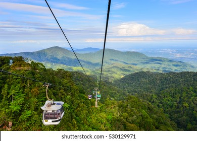 Cableway leading to Genting Highland in Kuala Lumpur, Malaysia