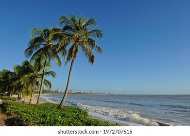 Cabo Branco Beach in João Pessoa, State of Paraíba, Brazil, on August 23, 2012.