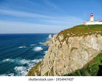 The Cabo da Roca lighthouse, in Portugal, the westernmost point of continental Europe.