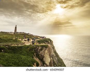 Cabo da Roca, western point in Europe, Portugal