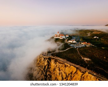 Cabo da Rocha lighthouse from above, Portugal