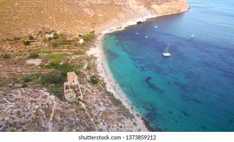 Cabo de Gata. Cala San Pedro. Almeria,Spain. Drone Photo