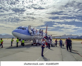 CABO SAN JOSE, MEXICO - MARCH 12 2015 : Cabo San Jose International Airport with airport code SJD serving a touristy area of the Baja California Sur in an editorial image