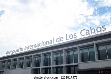 Cabo San Lucas, Baja / Mexico 11-14-2018  The airport at Cabo San Lucas Mexico is the international airport most used by tourists when exploring the Baja Peninsula in Mexico.