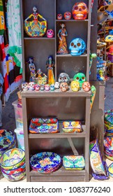 Cabo San Lucas, Mexico, 03/03/2016, Souvenirs. Mexican Souvenirs are very colorful, they will not be confused with objects from other regions.