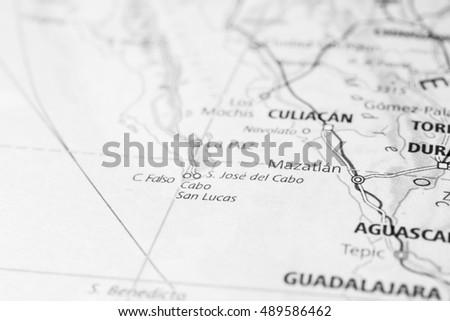 Cabo San Lucas Mexico Map on