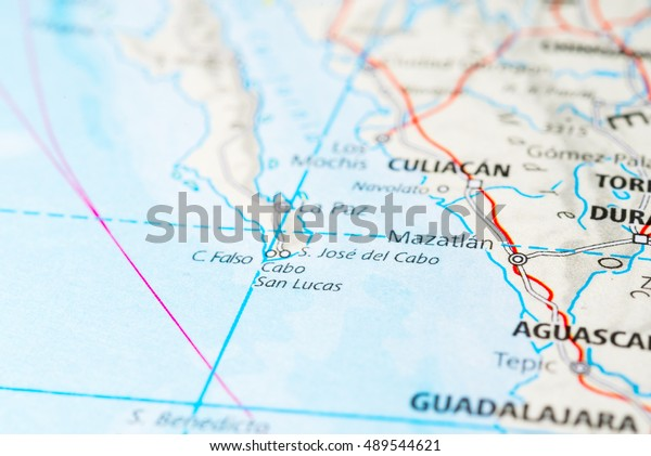 Cabo San Lucas Mexico Map View Stock Photo (Edit Now) 489544621
