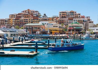 CABO SAN LUCAS, MEXICO -MARCH 20, 2012 : View on Cabo San Lucas marina,popular touristic destination on Baja California, Mexico. Holiday travel port in Mexico