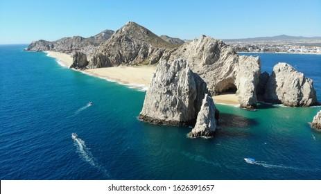 Cabo San Lucas Mexico Skyline and Lovers Beach Divorce Beach lands end