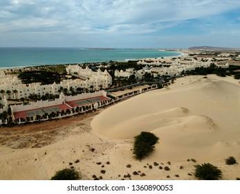 Cabo Verde island Boa Vista beach Africa Sal Rei paradise drone