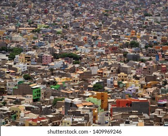 Cabo Verde Mindelo houses view