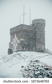 The cabot tower on signal hill historic park in St. John's, newfoundland, canada in the winter