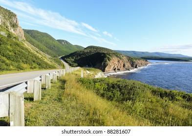 Cabot Trail on Cape Breton Island in Nova Scotia Canada
