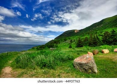 Cabot Trail Scenery in Cape Breton, Nova Scotia (HDR composite)
