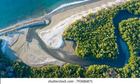 Cabuyal beach in Costa Rica