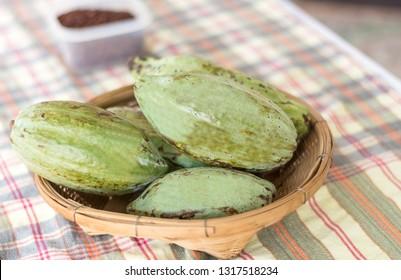 Cacao bean fruit