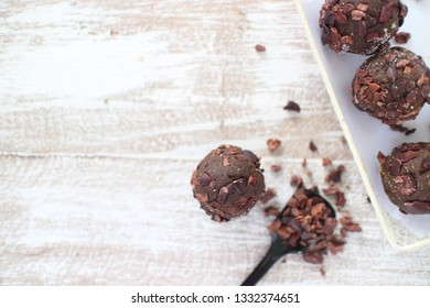 Cacao nibs Energy Balls, Cacao Cacao nips Balls and Cacao Coconut Flaxseed Balls.
