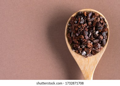 Cacao Nibs on a Spoon