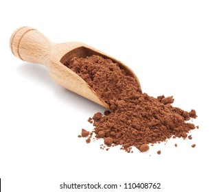 cacao powder isolated on white background