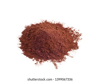 Cacao powder isolated on a white background