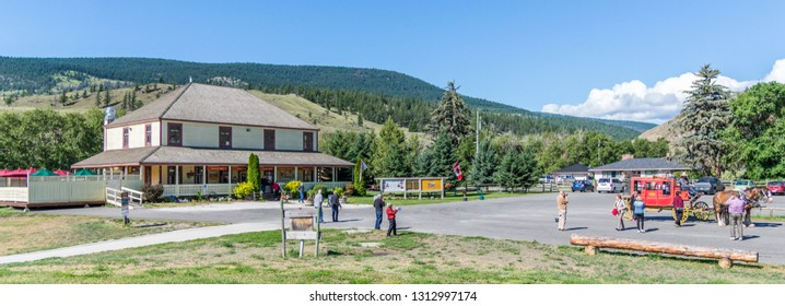 Cache Creek, British Columbia / Canada - 06/22/2015 Historic Hat Creek ranch with restaurant serving American breakfast & lunch in an 1870s ranch, plus educational programs.