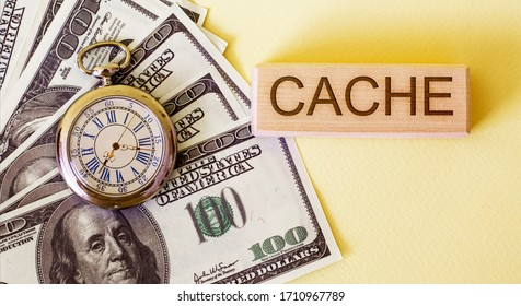 cache and dollars on the table near the clock