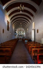 Cachi, Salta, Argentina- 03/28/2019: A view of Cachi's Church in Salta, Argentina