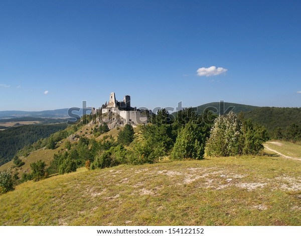 Cachtice castle, Slovakia. The Castle of Cachtice was residence of the world famous Elizabeth Bathory and that makes this castle one of the most popular tourist destinations ever.