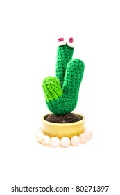 Cactus Knitting doll
