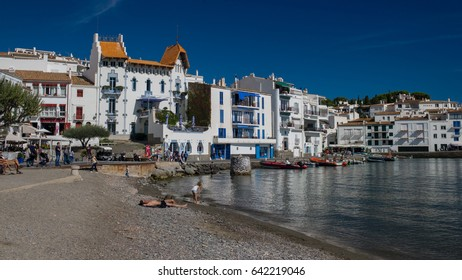 Cadaques, Spain - SEP 26 2015: The skyline of Cadaques, one of most  beautiful coastal towns in Catalonia, Spain.