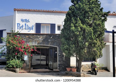 CADAQUES, SPAIN - SEPTEMBER 6, 2018: Hotel Lligat in Cadaques next to Salvador Dali's house