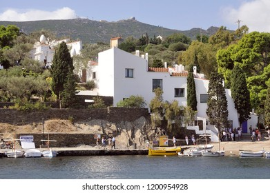 CADAQUES, SPAIN - SEPTEMBER 6, 2018: House of Salvador Dali in Cadaques in Catalonia, great painter Spanish surealist