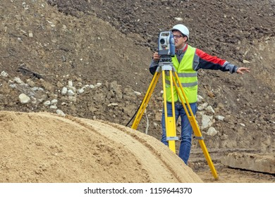 Cadastral survey of locality by surveyor