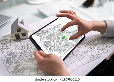 Cadastre Land Development Map And Developer Plot - Shutterstock ID 1969865110