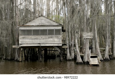 Caddo Lake sits on the Texas-Louisiana border and has a surreal feel of spanish moss and cypress trees.